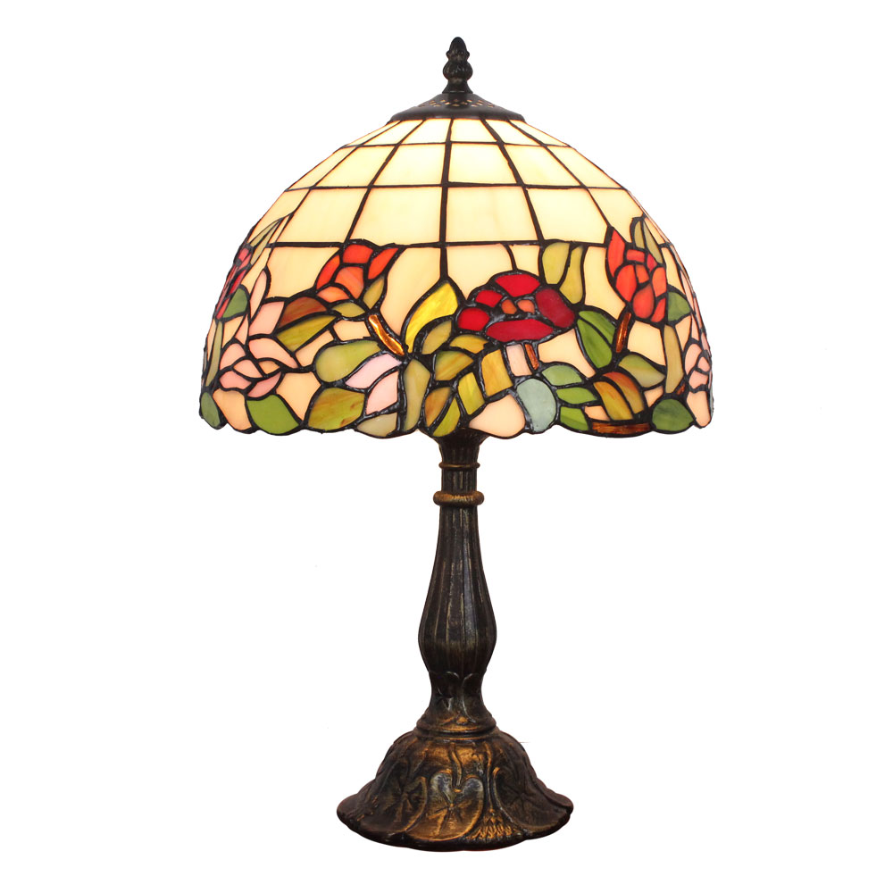 12inch European Pastoral Retro Style Table Lamp Colorful