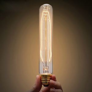 40W E27/E26 Retro/Vintage Edison Light Bulb T10 Halogen Bulbs