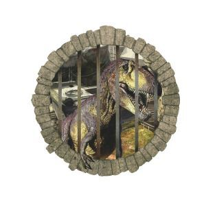Modern Style Dinosaur Cage PVC 3D Wall Stickers