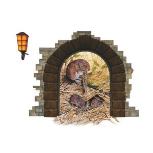 Modern Style Voles PVC 3D Wall Stickers