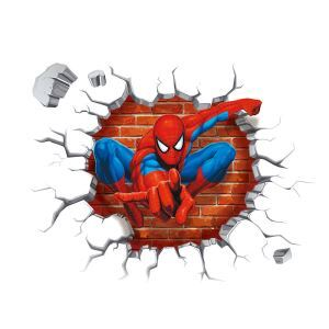 Modern Style Spider Man PVC 3D Wall Stickers