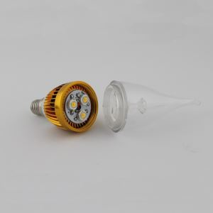 2 Pcs 3W E12/E14 LED Candle Bulb 270 LM AC85-265V Golden