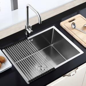 Stainless Steel Single Bowl Sink Topmount Kitchen Sink (Faucet Not Included) HM6045