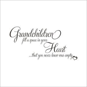 Grandchildren Dark Brown PVC Plane Wall Stickers