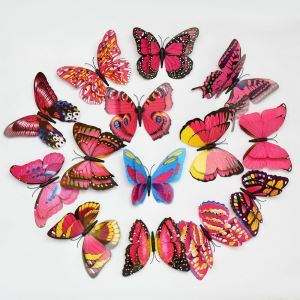 12 Pcs Colorful Butterfly Study Room Children Room Living Room Bedroom PVC 3D Wall Stickers 6 Options