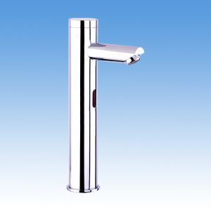 Chrome Finish Sensor Hands Free Contemporary Bathroom Sink Faucet(Cold)