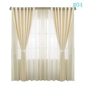 Modern Simple Solid Color Chenille Advanced Custom Curtains Living Room Dining Room Curtains