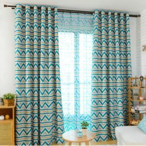 Nordic Style Geometric Printing Pattern Advanced Custom Curtains