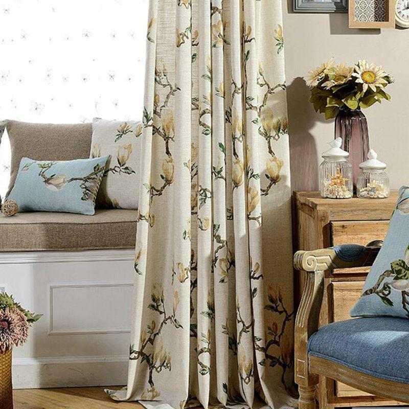 American Countryside Pastoral Style Curtain Tasha Tudor