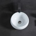 Modern Simple Mini Ceramic Sink White Sink Round 32cm (Without Faucet)