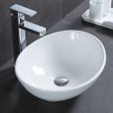 Modern Ceramic Sink White Sink Oval 41cm (Without Faucet)