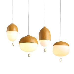 Modern Simple Fashion Metal Glass Pendant Light 4 Designs Dining Room Living Room Bedroom Lighting DIY Lights(Forest Night)