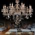 Show details for Large Crystal Chandelier Cognac Luxury Modern Large Crystal Ceiling lights 2 Tiers 15 Lights(Dance Of Romance)