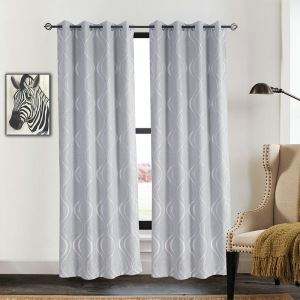 Customize Curtains Gray Curve Jacquard Curtains
