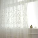 (One Panel)European Sheer Curtains Advanced Customization Classical Embroidery Pattern