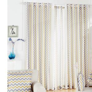 ( One Panel )Nordic Style Wavy Pattern Curtains Advanced Customization
