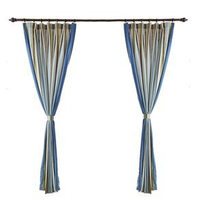 ( One Panel )Mediterranean Curtains Advanced Customization Stripes Pattern Curtain