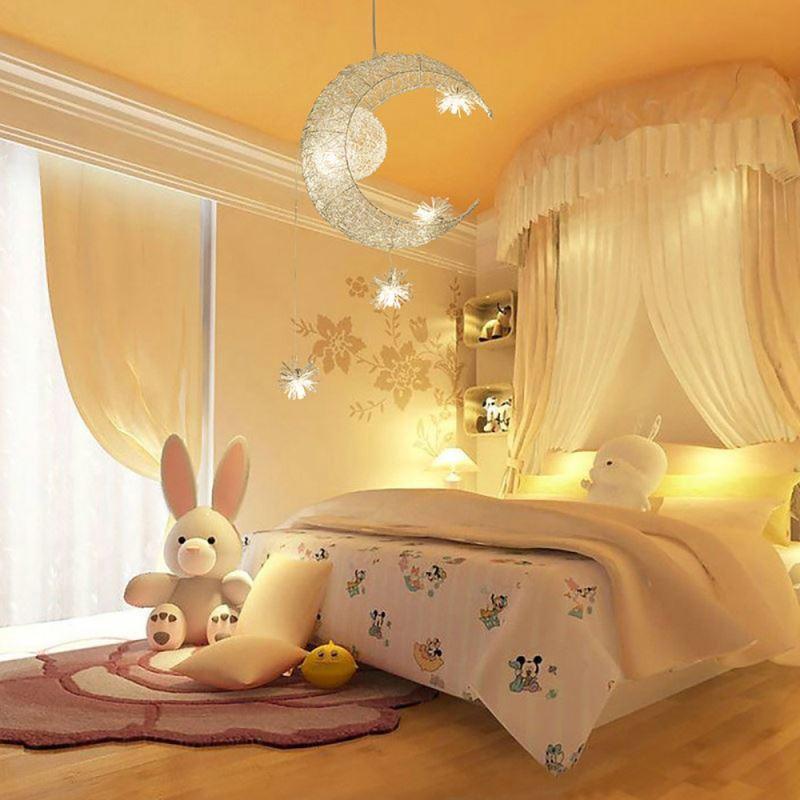 Moon Lights Bedroom: Moon Star Ceiling Light Hanging Lights For Bedroom Kids