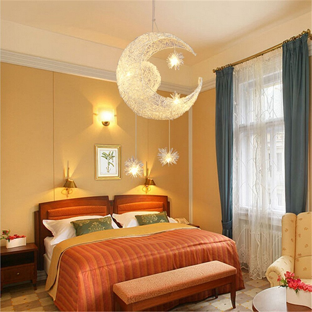Moon Star Ceiling Light hanging lights for bedroom Kids Room ...