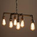 Ceiling Lights Edison Retro Loft Style Vintage Industrial Pendant Light Lamp Metal Water PipeLuminaire Lampara Colgantes