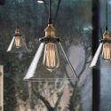 Rustic Glass Pendant Light Clear Glass Shade Dining Room Lighting Ideas Living Room Bedroom Lighting