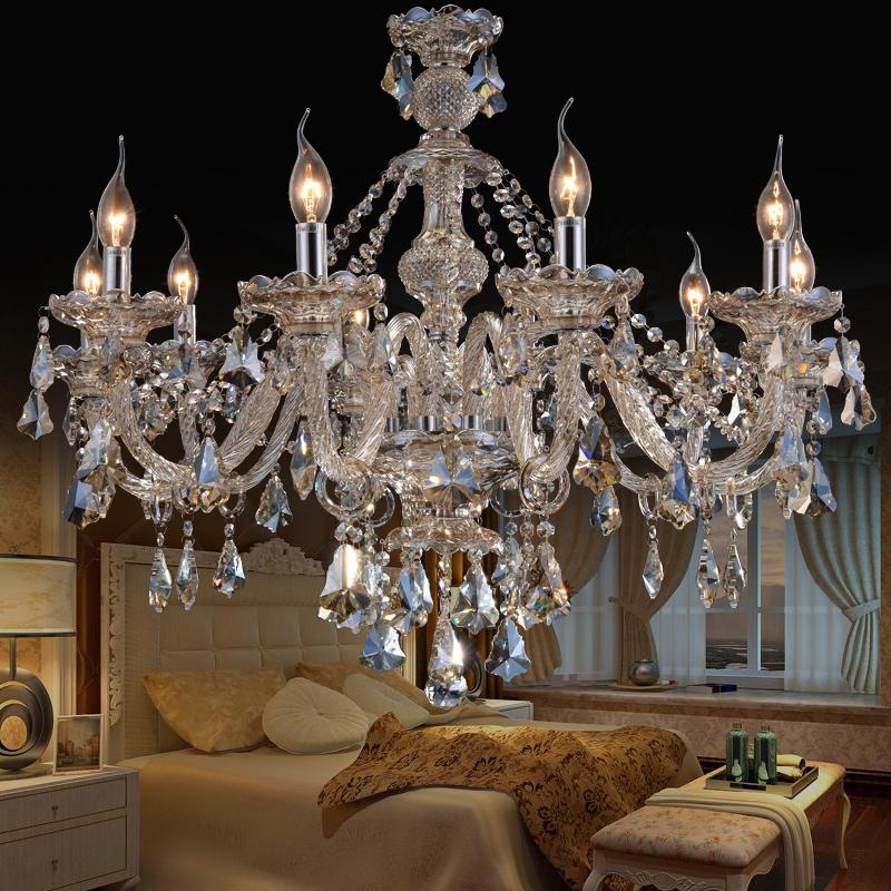 Crystal Ceiling Lights Cognac Luxury, Crystal Chandelier Bedroom Lighting