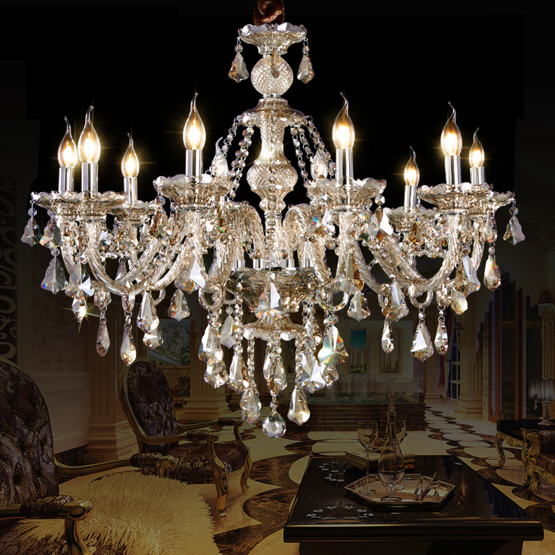 Crystal Ceiling Lights Cognac Luxury Modern 10 Lights Crystal Chandelier Living Room Bedroom Dining Room Lighting Ideas Dance Of Romance
