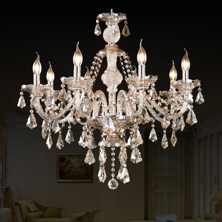 Chandelier Cognac Color Crystal Modern 8 Lights Living Room Bedroom Dining Room Lighting Ideas Kitchen Lighting Ideas Ceiling Lights Dance Of Romance