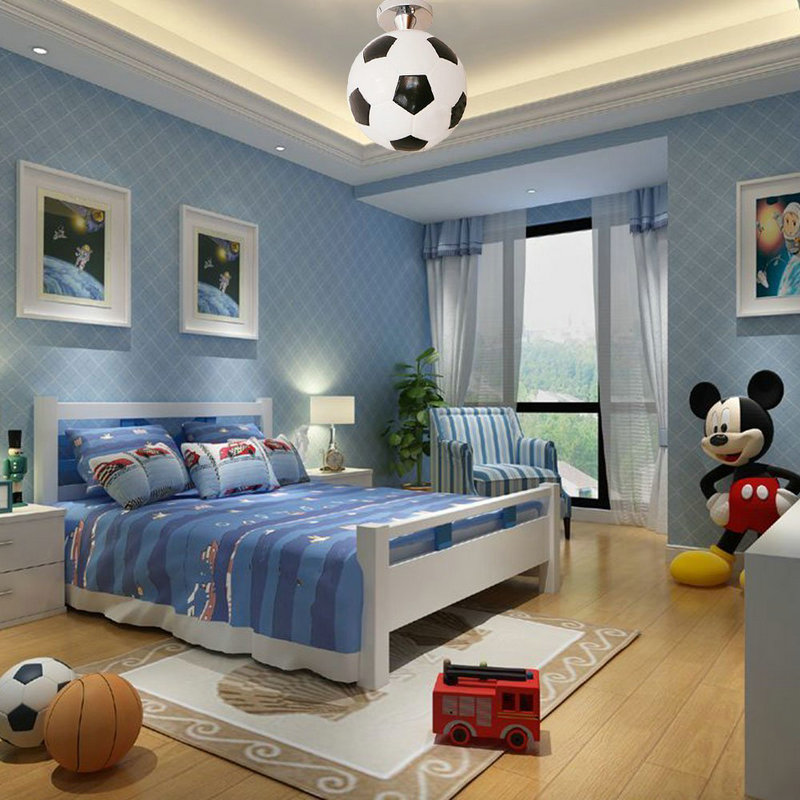 Football Bedroom Ideas Semi Flush Mount Ceiling Light for ...
