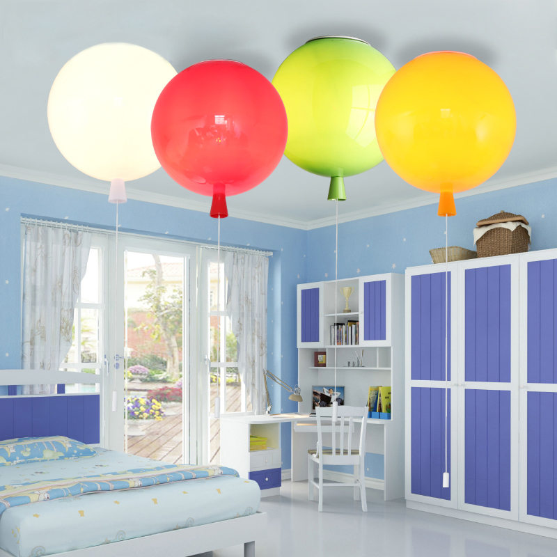 Balloon Ceiling Light Colourful Lighting Idea For Children S Room With Pull Down String