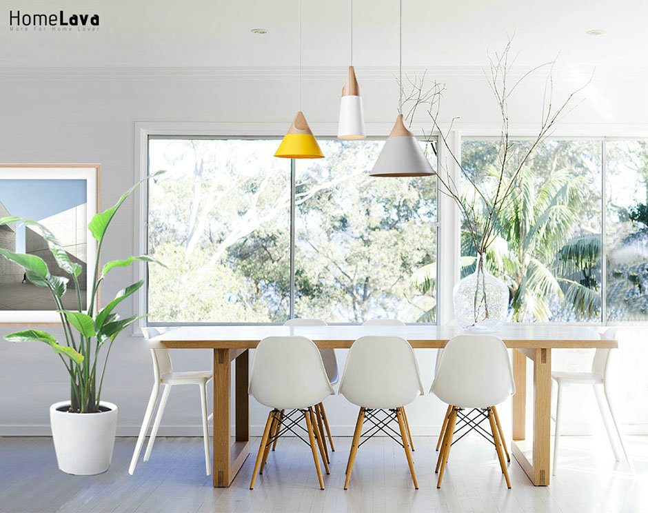 Clean modern dining room