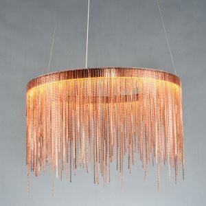 Nordic Creative Postmodern LED Lighting Tassel Aluminum Chain Bar Dining Room Pendant Light