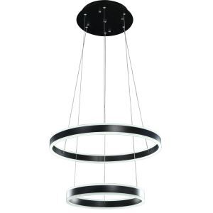 Nordic Modern LED Light Black Round Restaurant Bar Simple Creative Pendant Light 2 Lights
