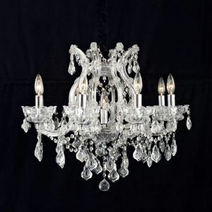 Nordic Modern Clear Glass Crystal Chandelier Living Room Dining Room Bedroom Lighting 8 Lights