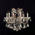 Nordic Modern Cognac Color Glass Crystal Chandelier Living Room Dining Room Bedroom Lighting 6 Lights