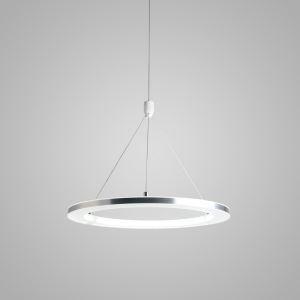 Modern LED Ceiling Lights Silver White Circle Pendant Light Bedroom Living Room Kitchen Lighting