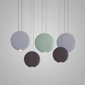 Nordic Postmodern LED Pendant Light Resin Round Living Room Dining Room Bedroom Light 3 Options