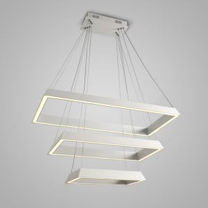 Nordic Modern Creative Simple LED Pendant Light White Rectangle 3 Layers Bedroom Living Room Dining Room Lighting