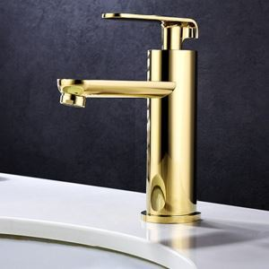 Modern Gold Basin Faucet Ti-PVD Bathroom Sink Tap