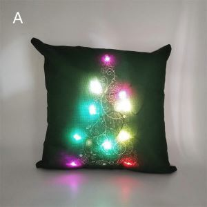 LED Colorful Lighting Christmas Theme Pillowcase 6 Options