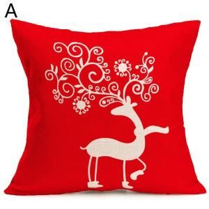 Antler Christmas Theme Pillowcase 4 Options