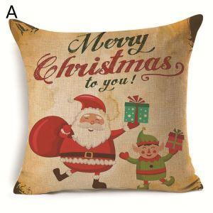 Santa ClausChristmas Deer Christmas Theme Pillowcase 4 Options
