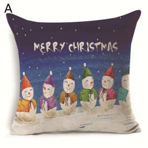 Christmas Snowman Little Girl Christmas Theme Pillowcase 7 Options