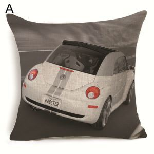 Car Theme Pillow Sofa Pillowcase 7 Options