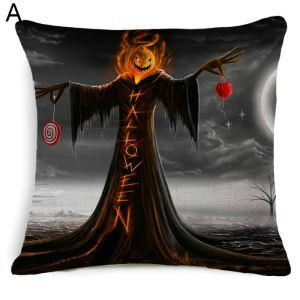 Halloween Theme Pillow Pumpkin Monster Man Horror Castle Cemetery Halloween Theme Pillowcase 5 Options