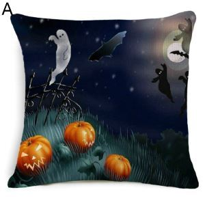 Halloween Theme Pillow Ghost Pumpkin Head Horror Pumpkin Man Halloween Theme Pillowcase 5 Options