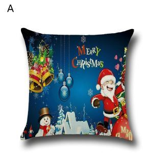 Santa Claus Christmas Deer Christmas Theme Pillowcase 4 Options