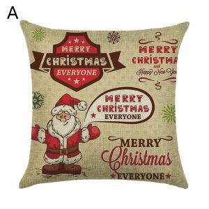 Christmas Pillow Santa Claus Christmas Deer Christmas Theme Pillowcase 6 Options