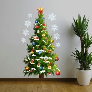 Christmas Tree  Bedroom Living Room Hallway Children Room PVC Wall Stickers