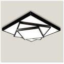 American Rural Style Living Room Dining Room Bedroom Geometric Shape LED Flush Mount Black and White